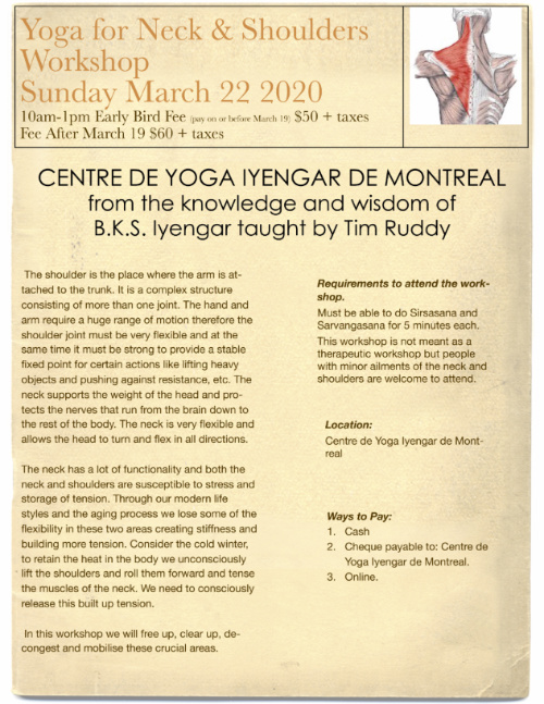 Yoga for Neck & Shoulders Sunday March 22 2020